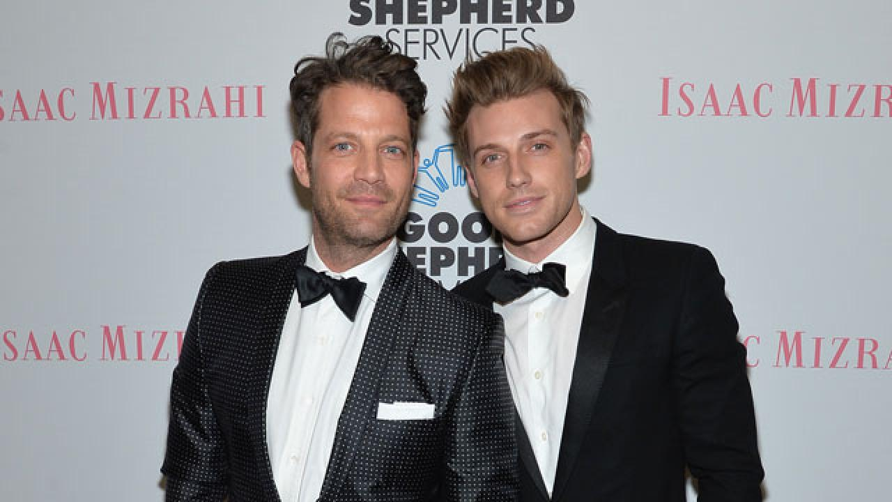 nate berkus welcomes daughter with husband jeremiah brent. Black Bedroom Furniture Sets. Home Design Ideas