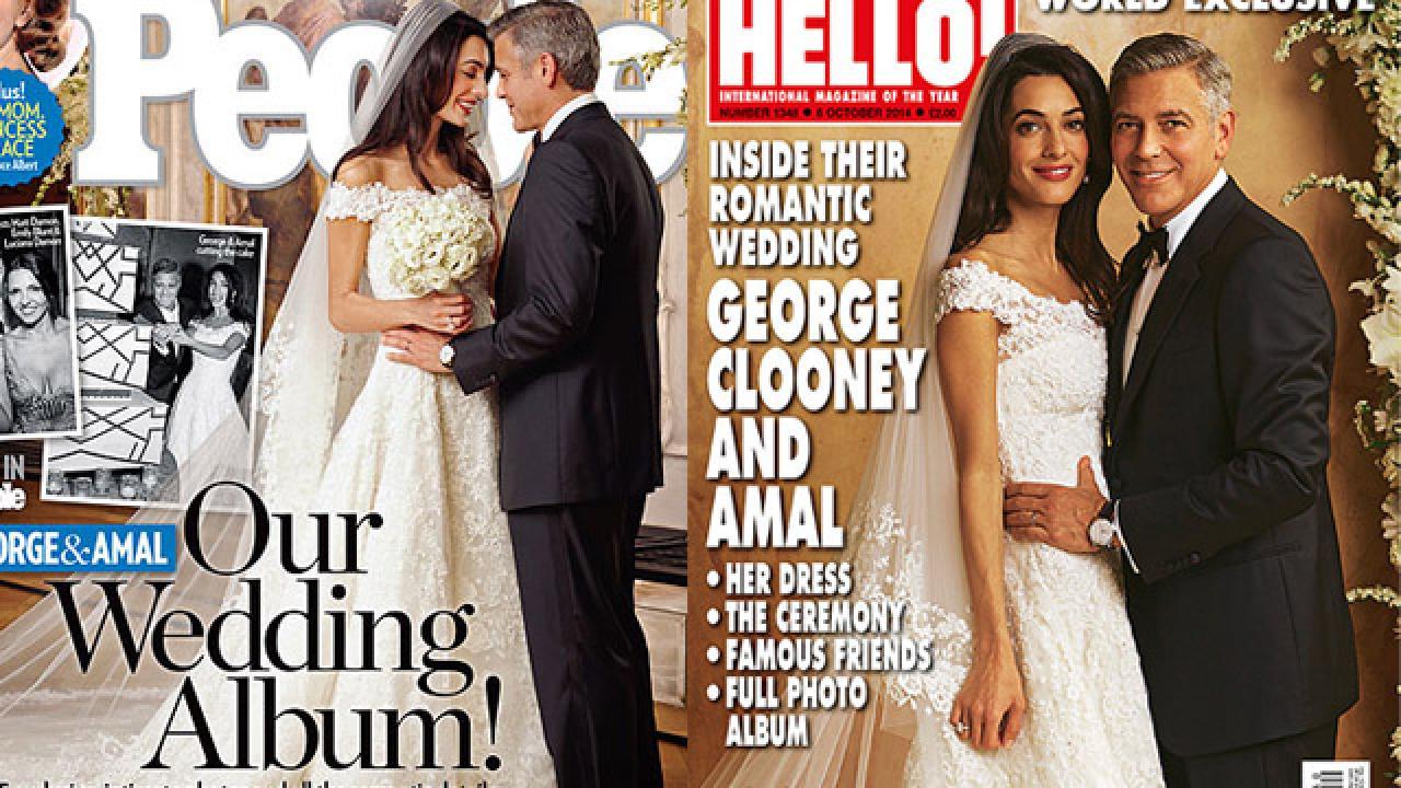 George Clooney Spent Millions on Wedding, But Magazine Photos ...