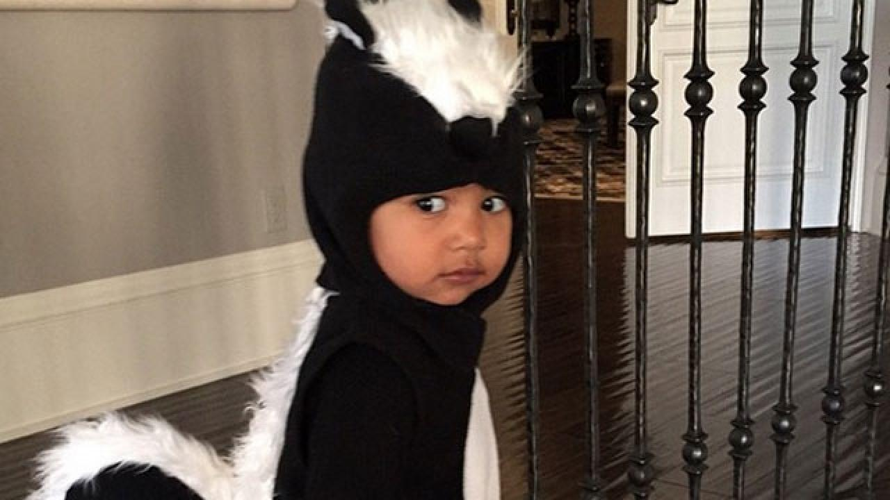north west's skunk costume is beyond adorable | entertainment tonight