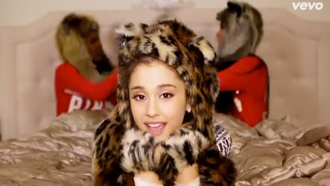 Ariana Grande Pillow Fights in Her PJs in New 'Santa Tell Me' Video   Entertainment Tonight