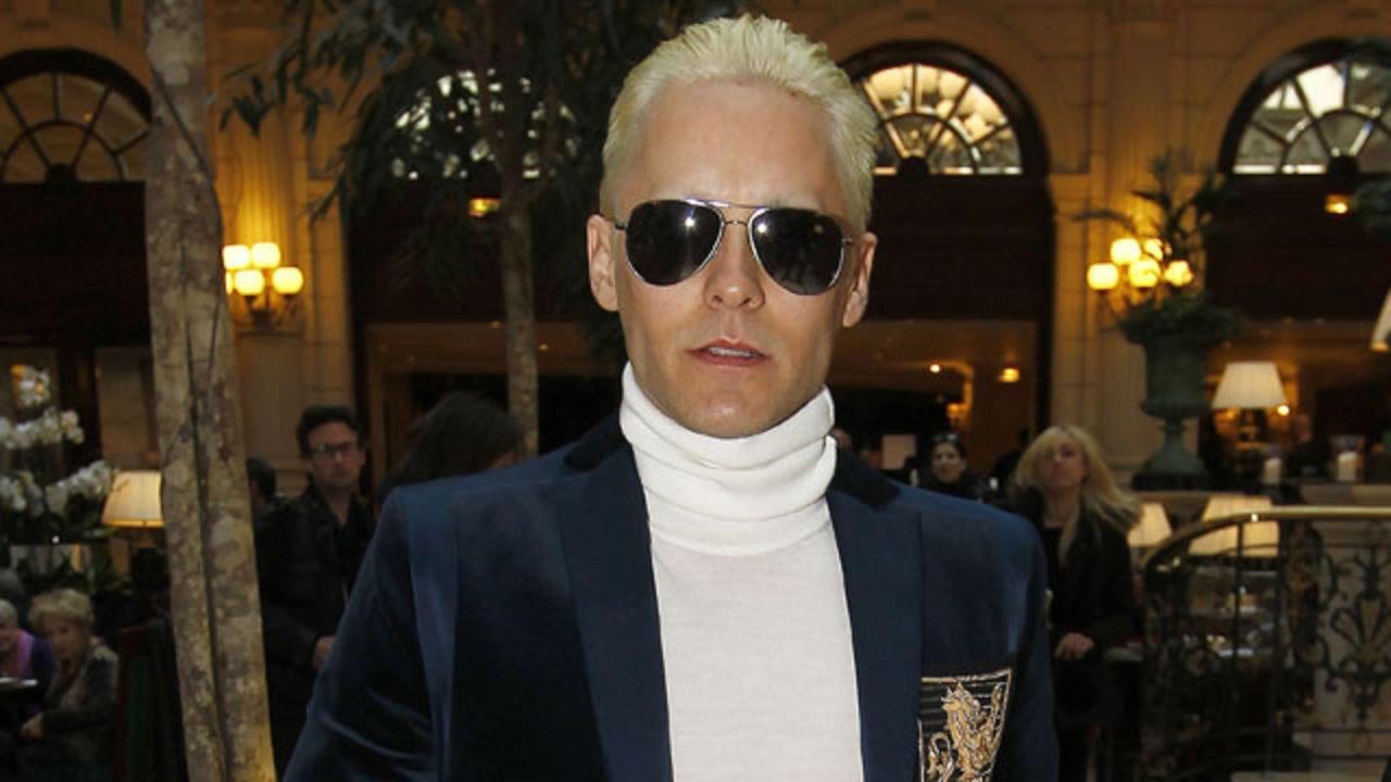 Jared Leto Debuts Platinum Hair At Paris Fashion Week Just