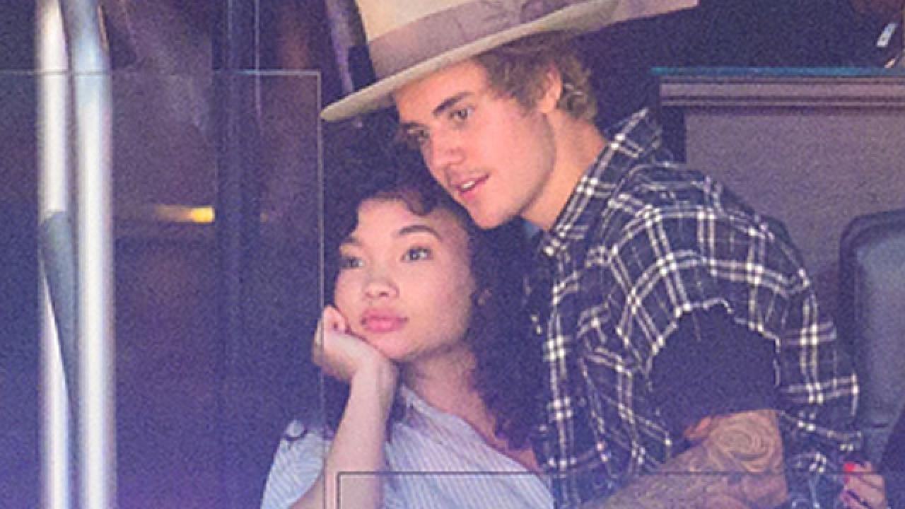 Justin Bieber And Model Ashley Moore Get Super Close At