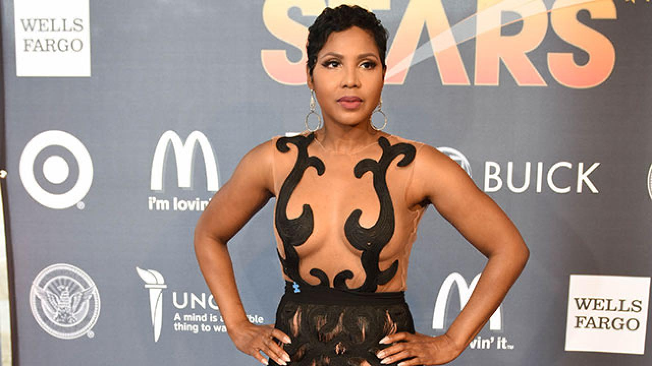 A Braless Toni Braxton Has Jaws Dropping In Super Sheer