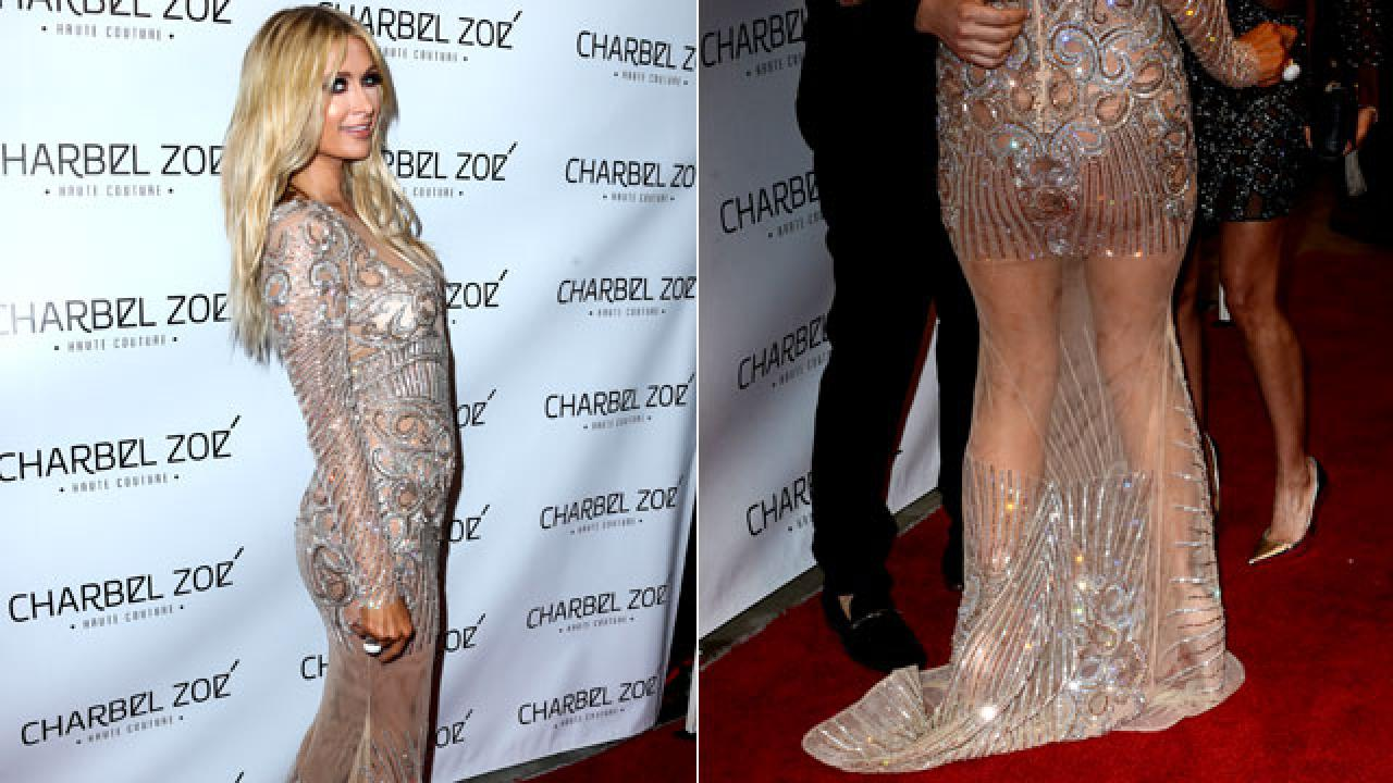Paris Hilton Bares Her Butt On The Red Carpet