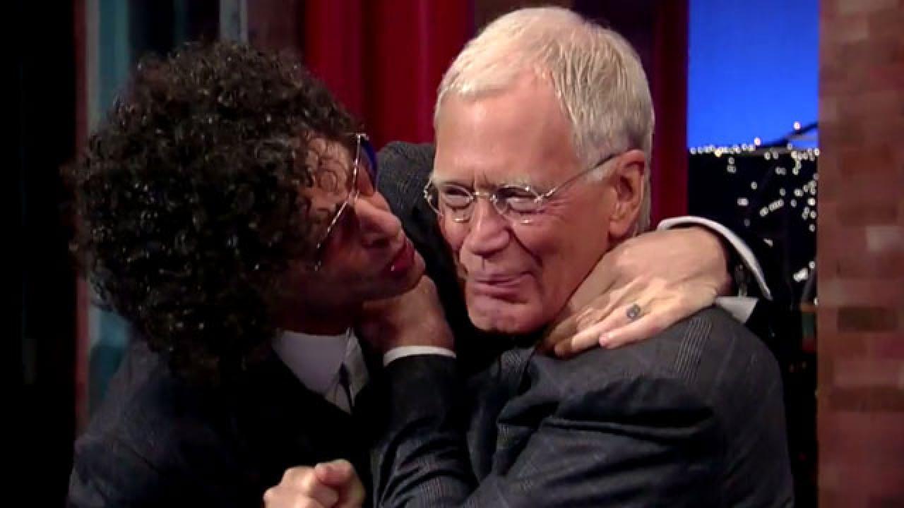 gay kiss on david letterman show
