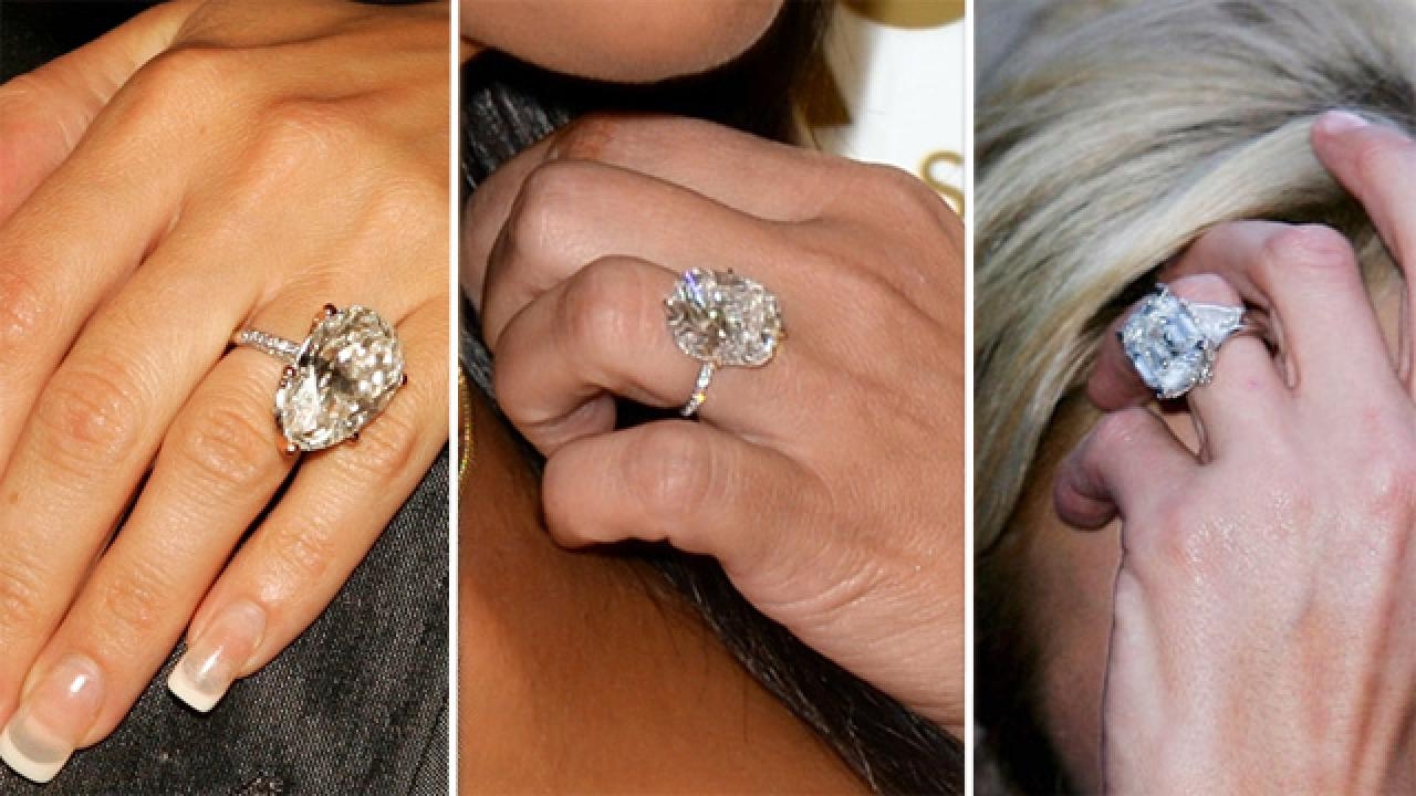 Size Does Matter The Biggest And Best Celebrity Engagement Rings Entertainment Tonight