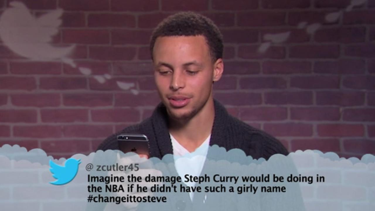 Steph Curry and 14 Other NBA Stars Read 'Mean Tweets' on 'Jimmy Kimmel Live!' | Entertainment ...