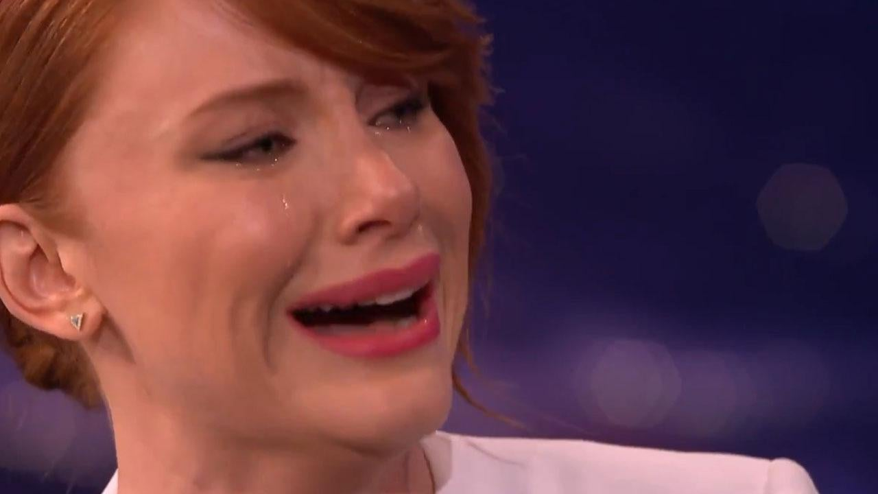 Bryce Dallas Howard Crying On Command While Talking About Home Depot Is Surprisingly Emotional