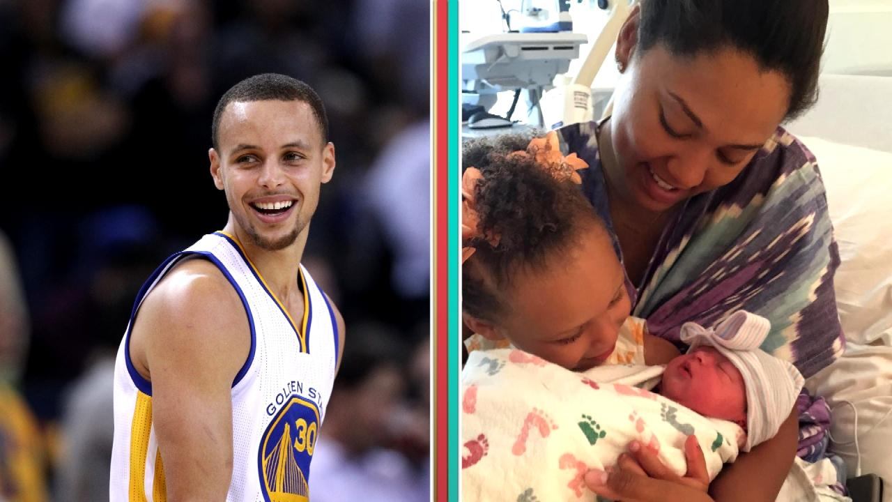 stephen curry introduces new baby girl ryan to the world