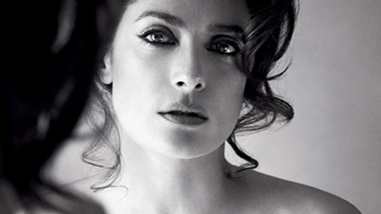 Salma Hayek Poses Topless for Allure, Admits She Used to