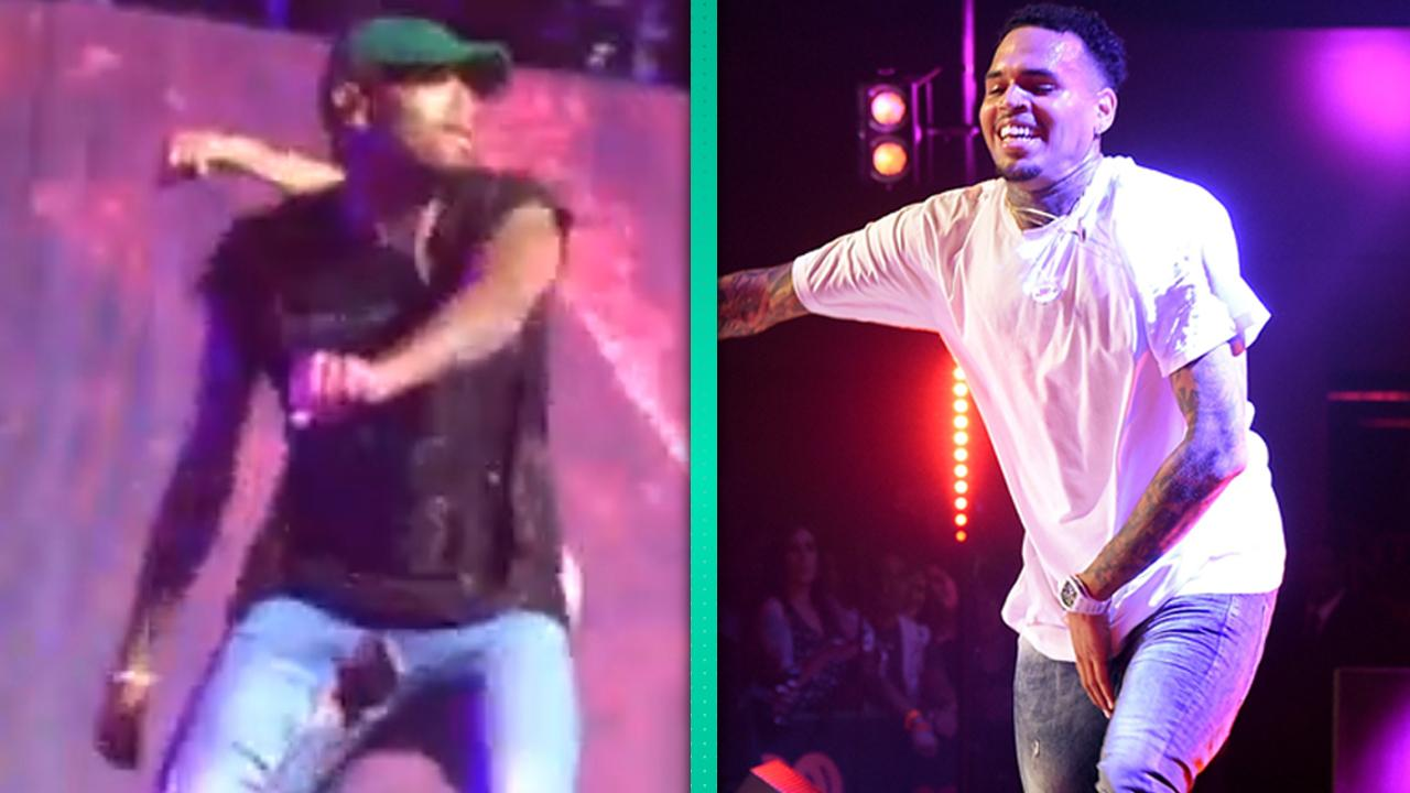 Chris Brown Pants Split