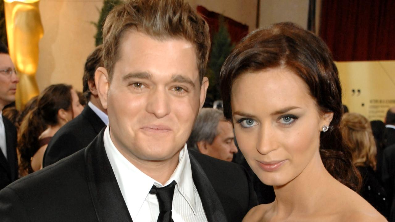 Emily Blunt Reluctantly Addresses Michael Buble Cheating ...