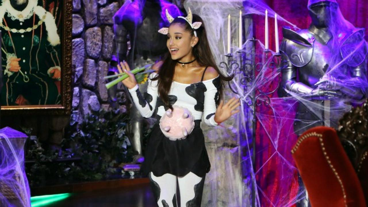 Ariana Grande Dressed Up As A Cow For Halloween And She