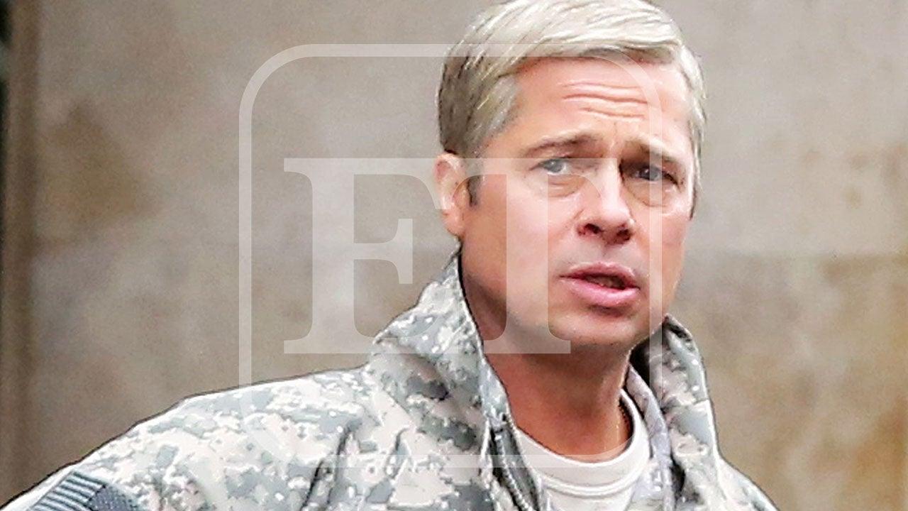 Brad Pitt Rocks Silver...