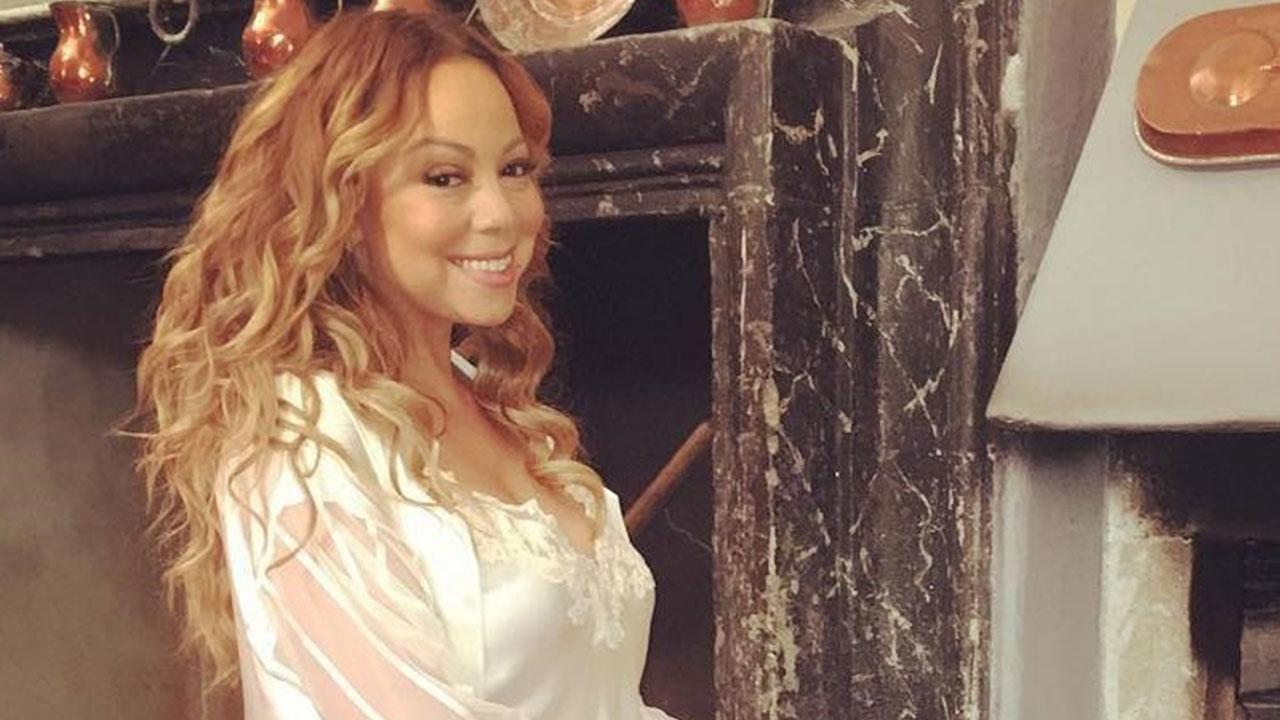 Mariah Carey Dons Sexy Lingerie And Heels While Showing
