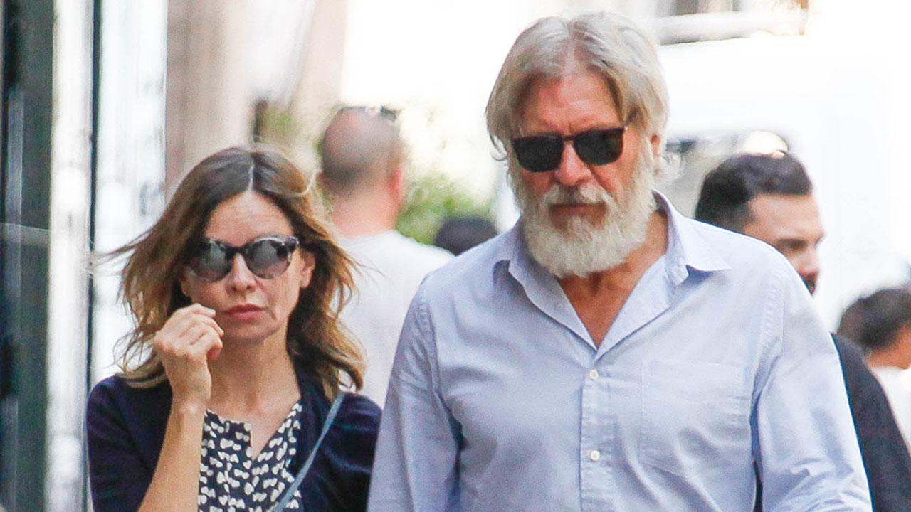 Harrison Ford Rocks A Burly Beard And Sneakers During Rare