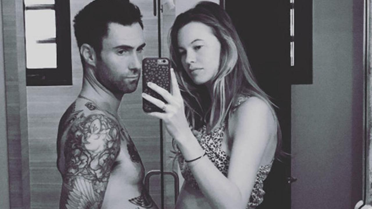adam levine and behati prinsloo share first photo of their