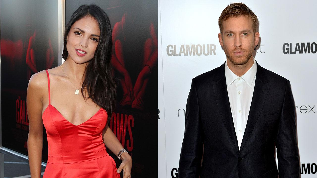 Calvin Harris Arm-in-Arm With Mexican Star Eiza Gonzalez ...