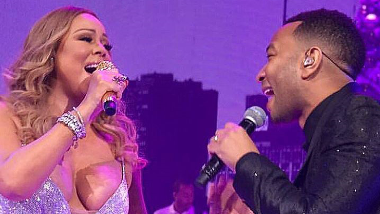 John Legend Makes a Surprise Appearance at Mariah Carey's NYC Concert: Watch!   Entertainment ...