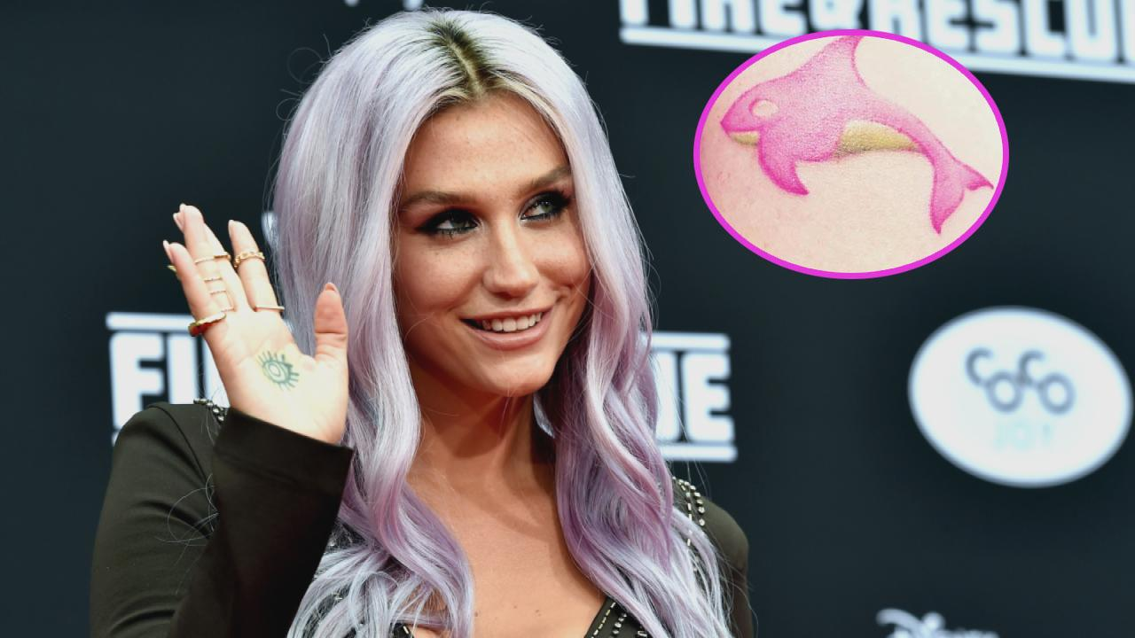 Kesha Gets Tiny 'Psychedelic' Whale Tattoo -- See Her ...