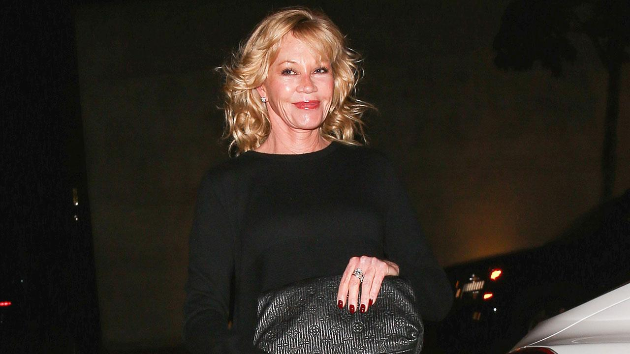 Melanie Griffith Shows Off Crazy Long Legs In Chic Lbd