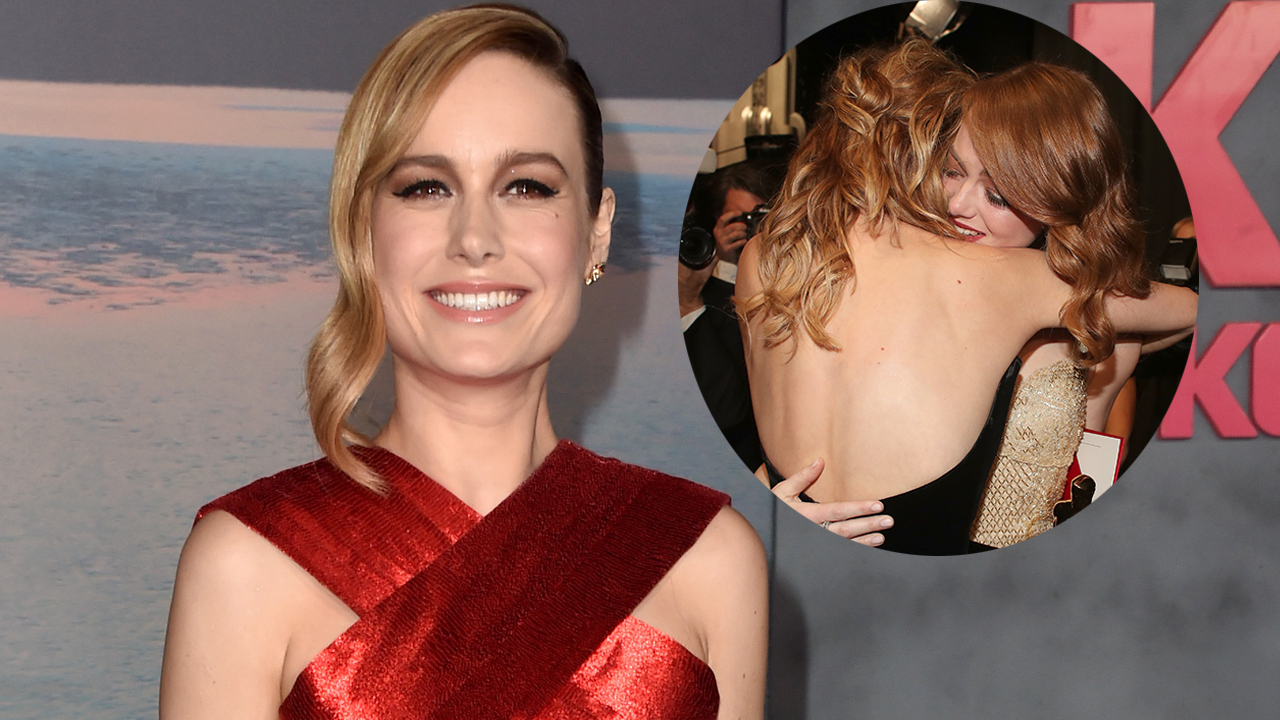Exclusive Brie Larson Recalls Backstage Moment With Emma