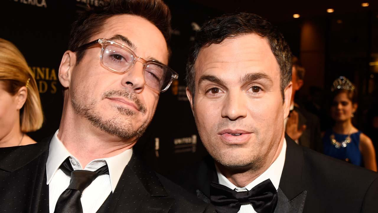 Robert Downey Jr. Shares Epic Lunch Break Photo With His