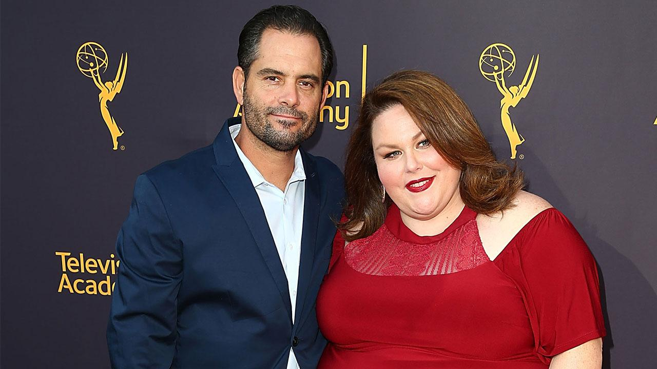 Date Night Chrissy Metz Shines In Red Dress Poses With
