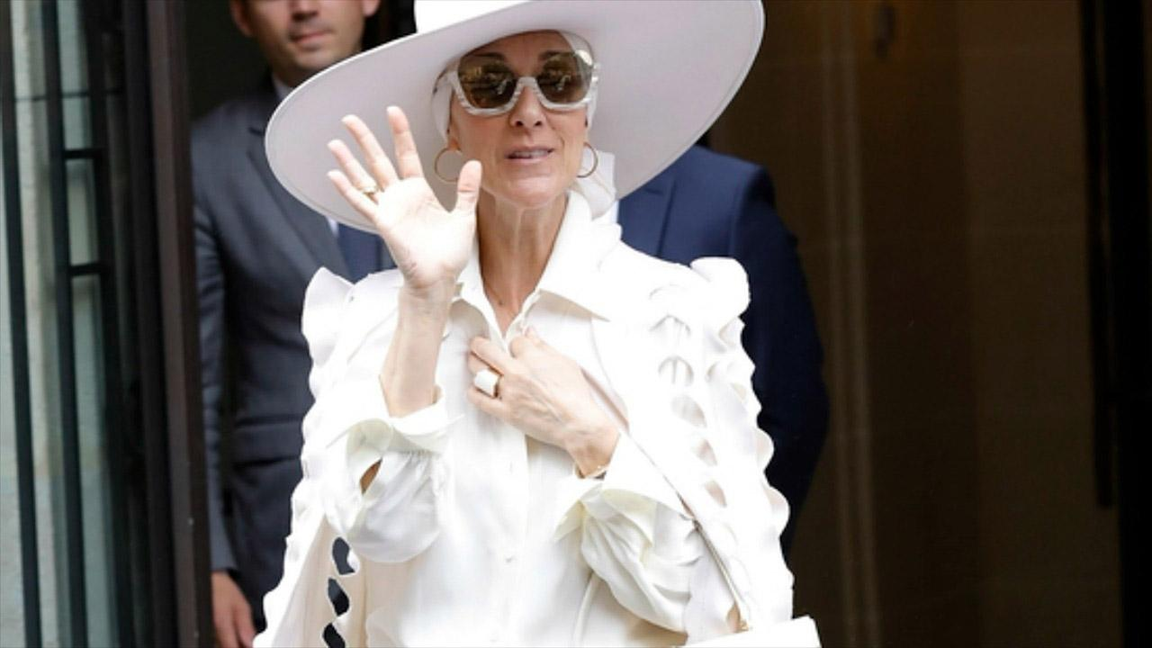 Celine Dion Slays All White Couture Jumpsuit In France