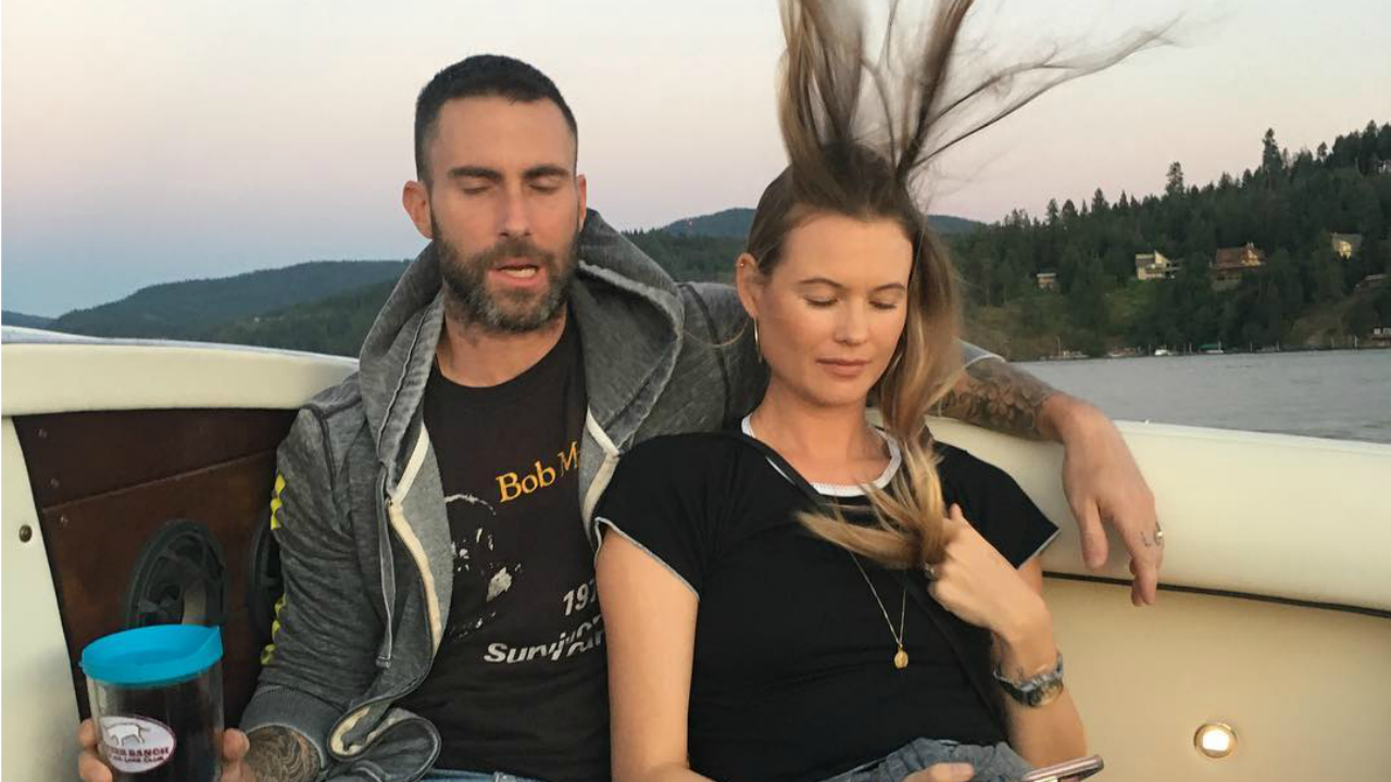 adam levine posts close to perfect photo of him and wife