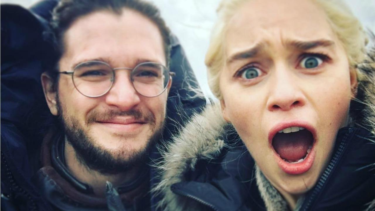 Kit Harington Pretends to Be a Dragon in 'Game of Thrones' Co-Star Emilia Clarke's Hilarious Video -- Watch!