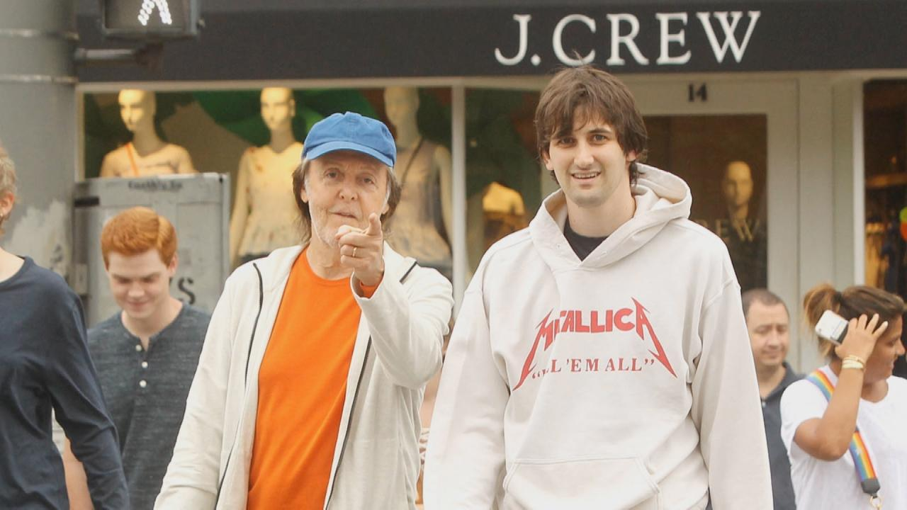 Paul McCartney Is Every Inch The Family Man During Shopping Trip With His Step Son See Pic