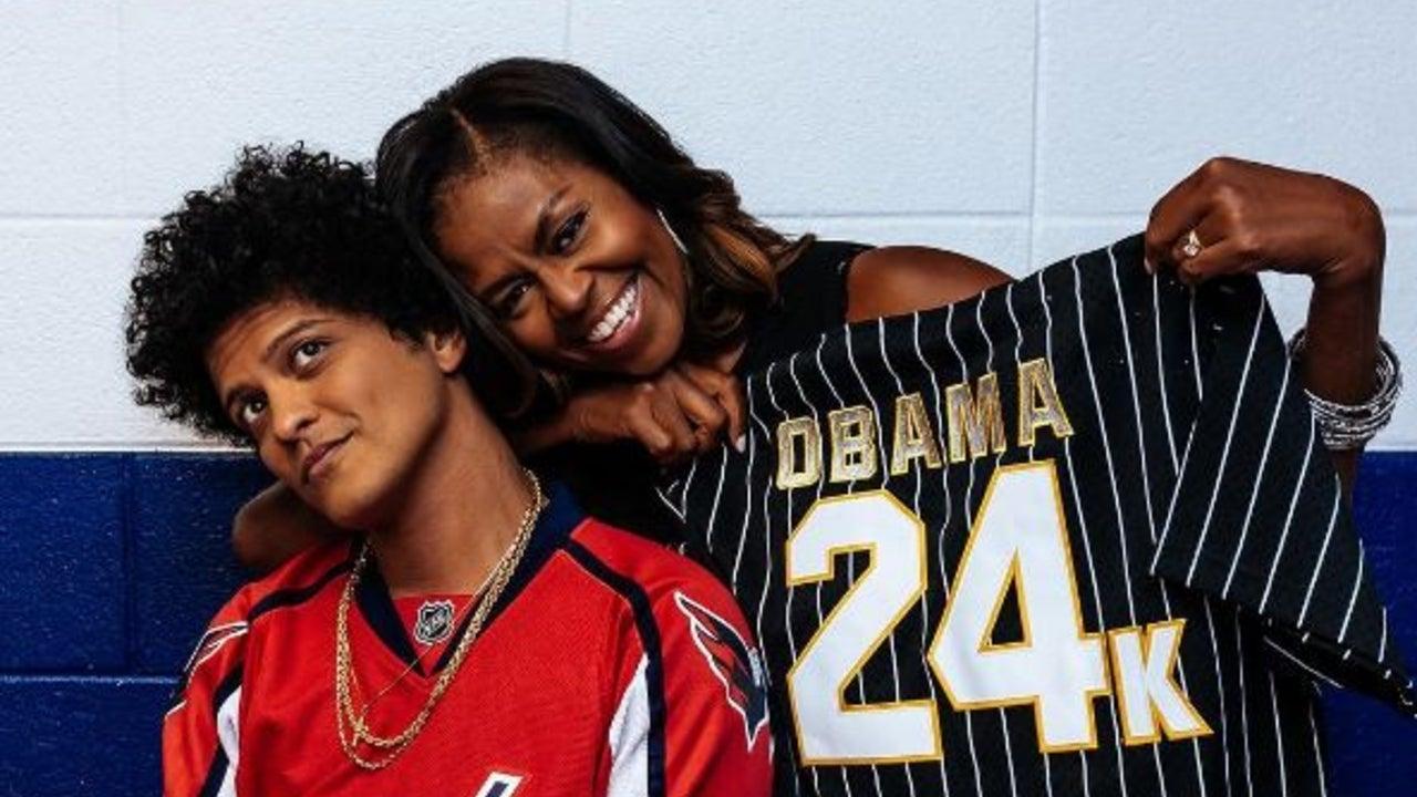 Michelle Obama Gets Surprise Gift At Bruno Mars Concert