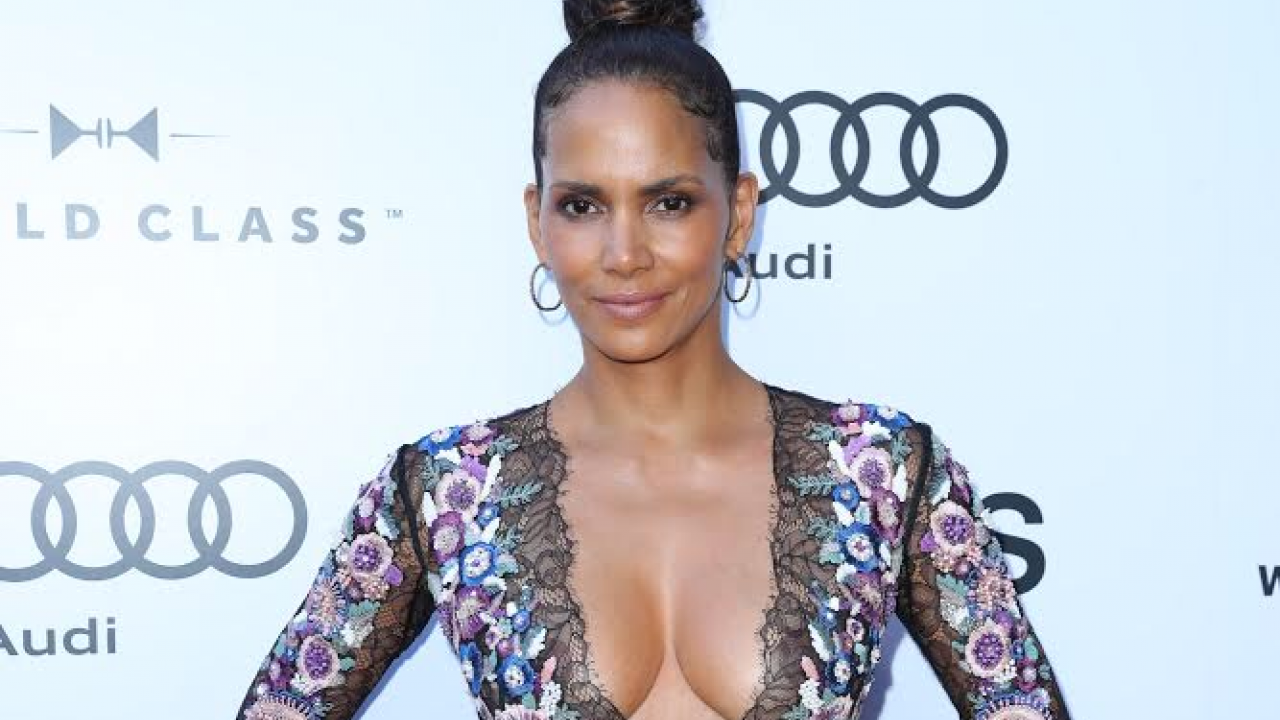 Halle Berry Wows With Cleavage Heavy Ensemble At Kings