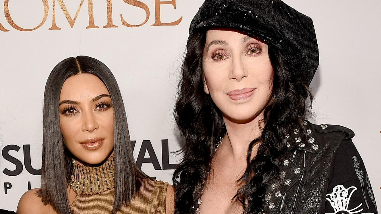 Kim Kardashian and Cher Film Video in Major Wigs in Los Angeles