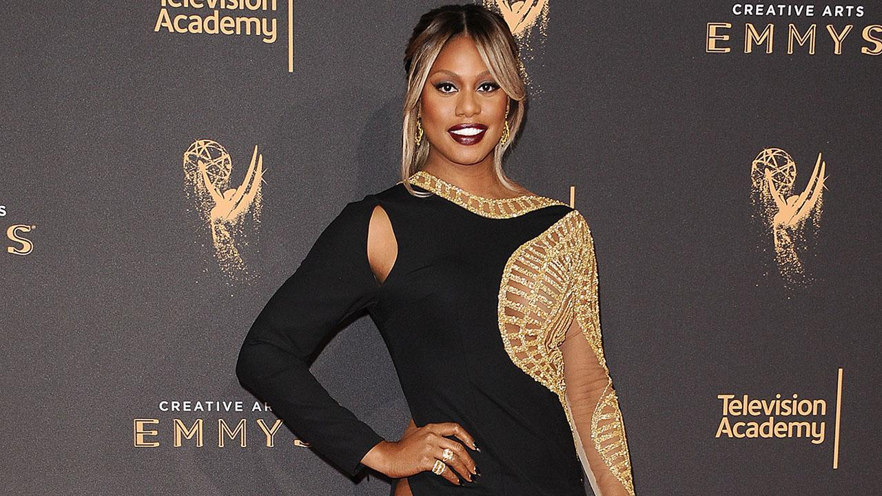 EXCLUSIVE: Laverne Cox Stuns in Daring Gown at Creative Arts