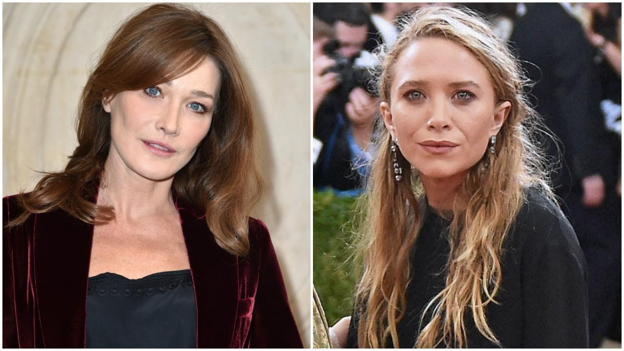 Carla Bruni Talks Having Mary Kate Olsen As A Sister In Law Olivier Looks Very Happy With Her Entertainment Tonight