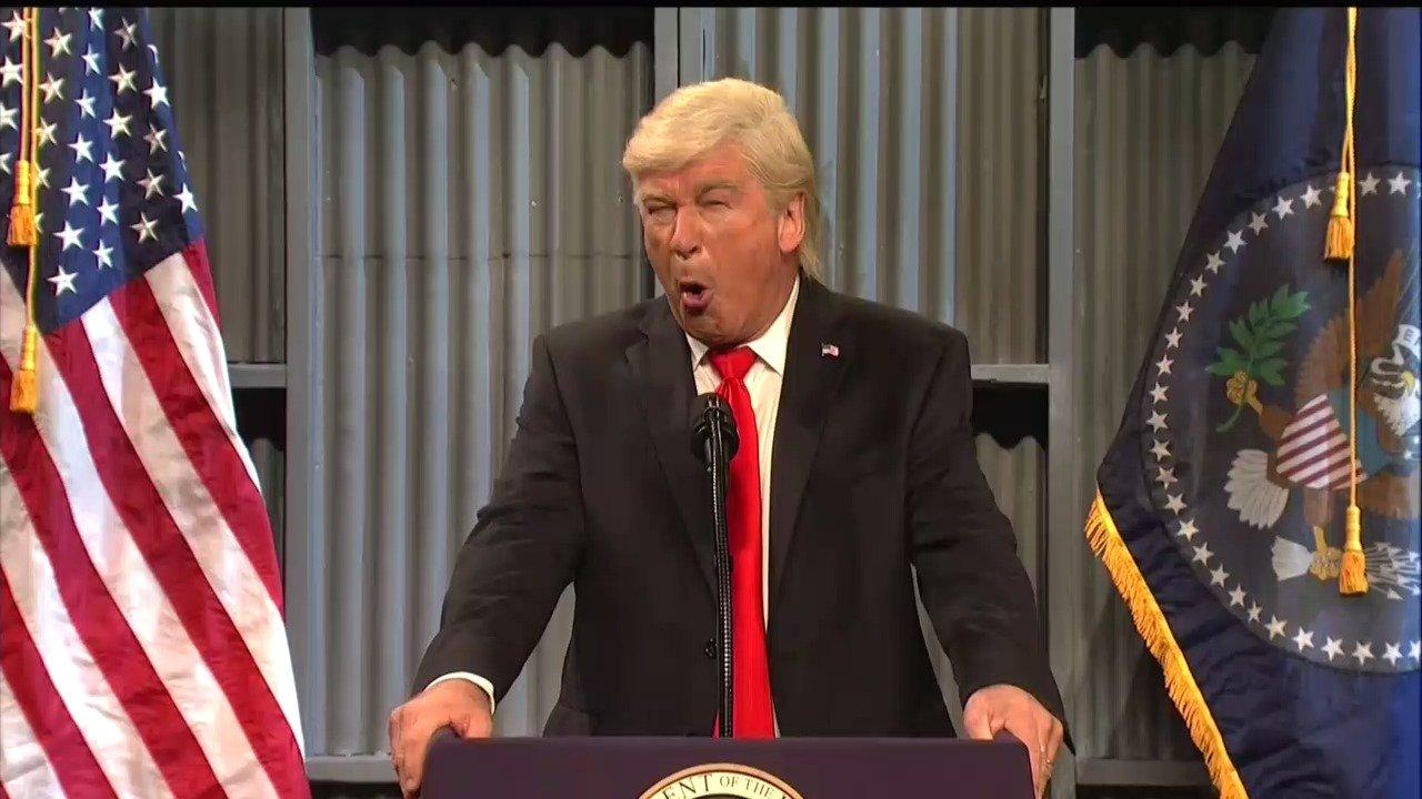saturday night livetook aim at president donald trump yet again over the weekend in a cold open lampooning all the recent controversies scandals and feuds