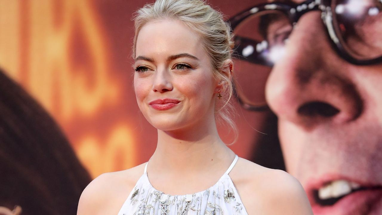 Emma Stone Dazzles In Whimsical Gown At Battle Of The