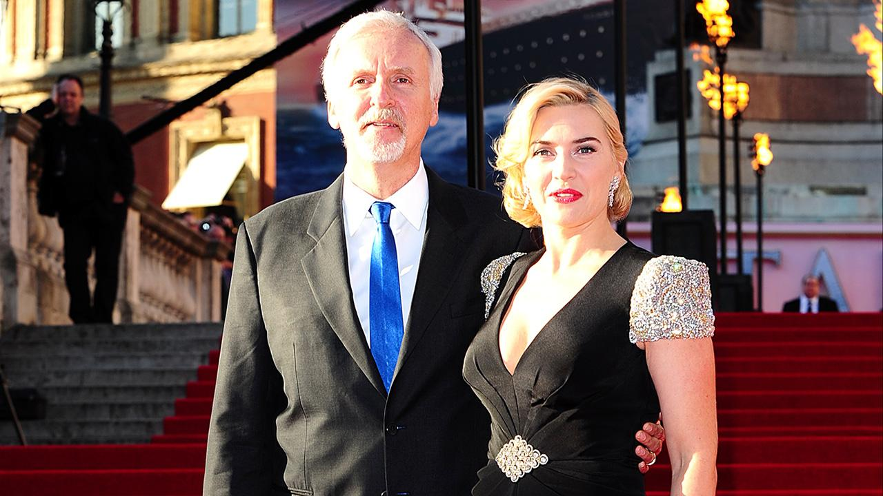 Kate Winslet and James Cameron showed Titanic in London in 3D 03/29/2012 31