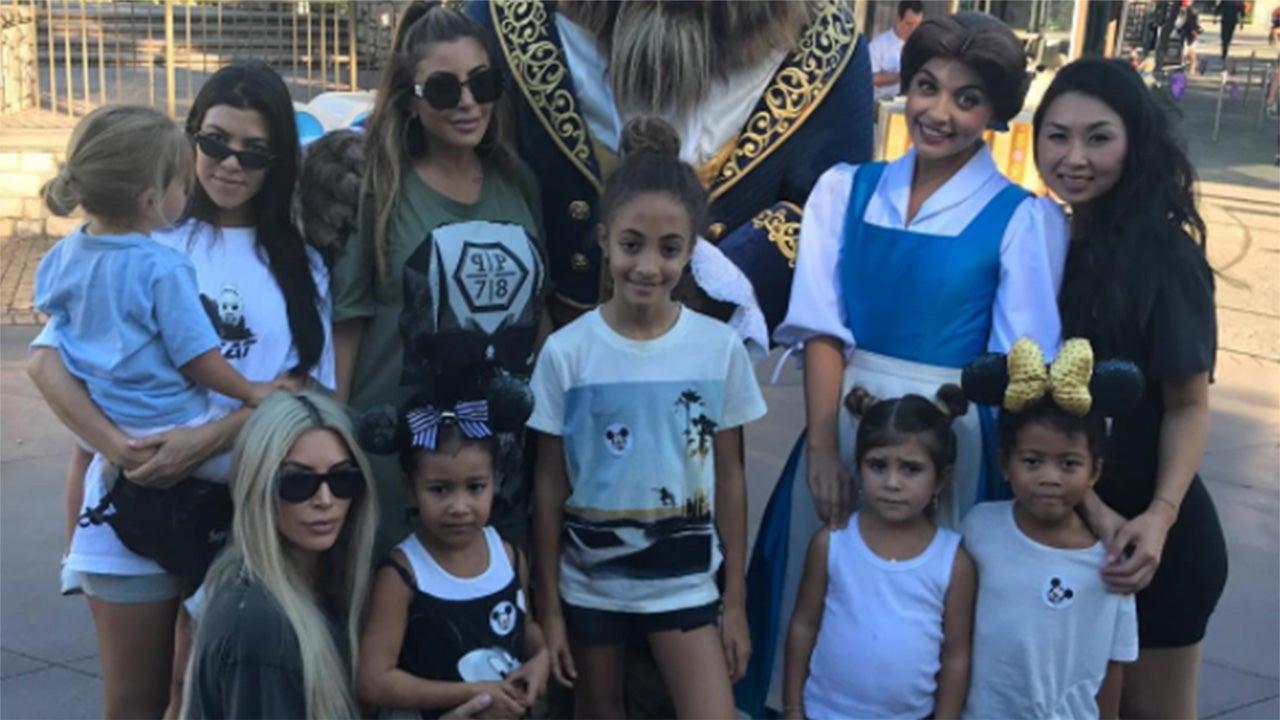 Kim and Kourtney Kardashian Take Their Kids to Disneyland ...