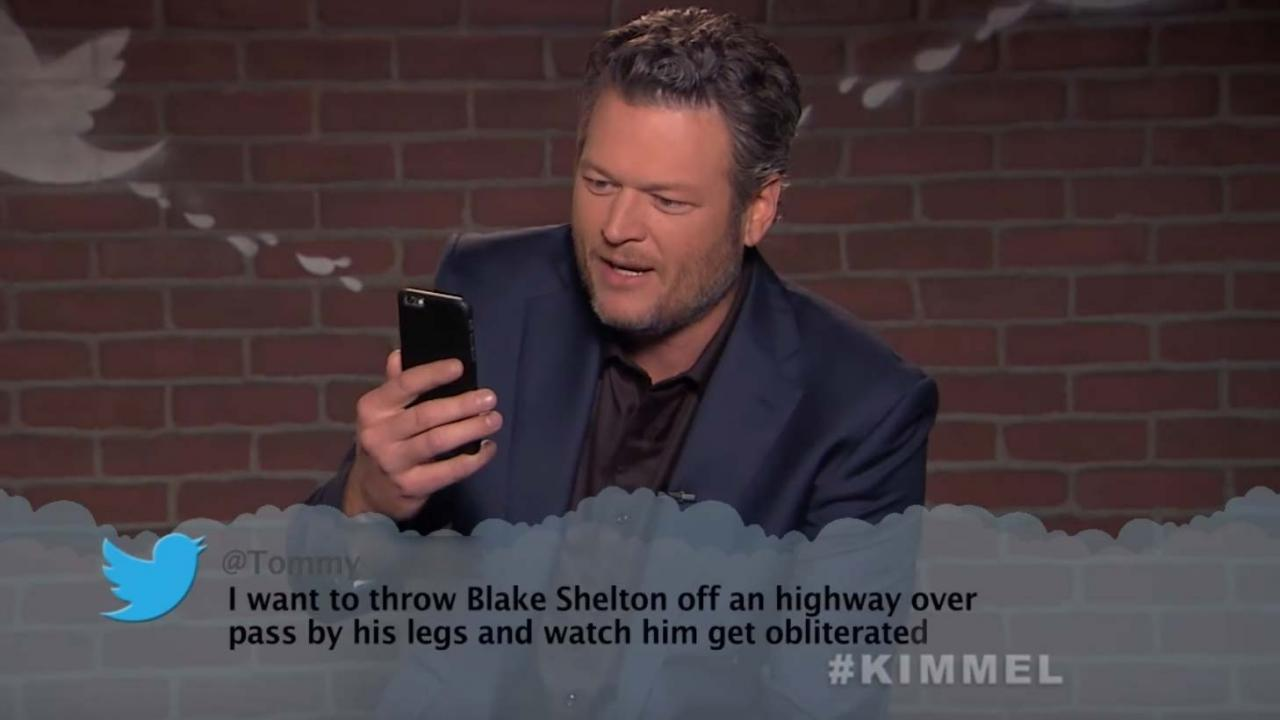 'Mean Tweets' Goes Country with Blake Shelton, Little Big ...