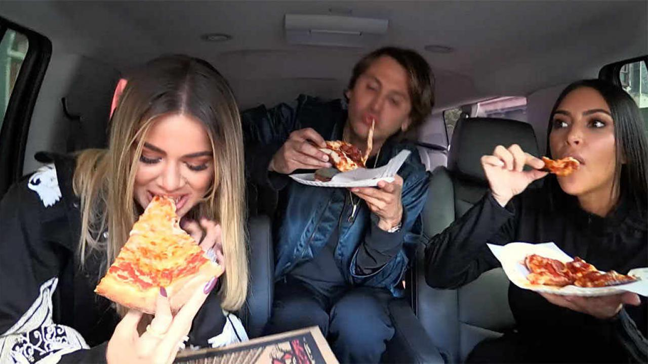 Kim Kardashian Enjoys Ice Cream And A Few Slices Of Ny
