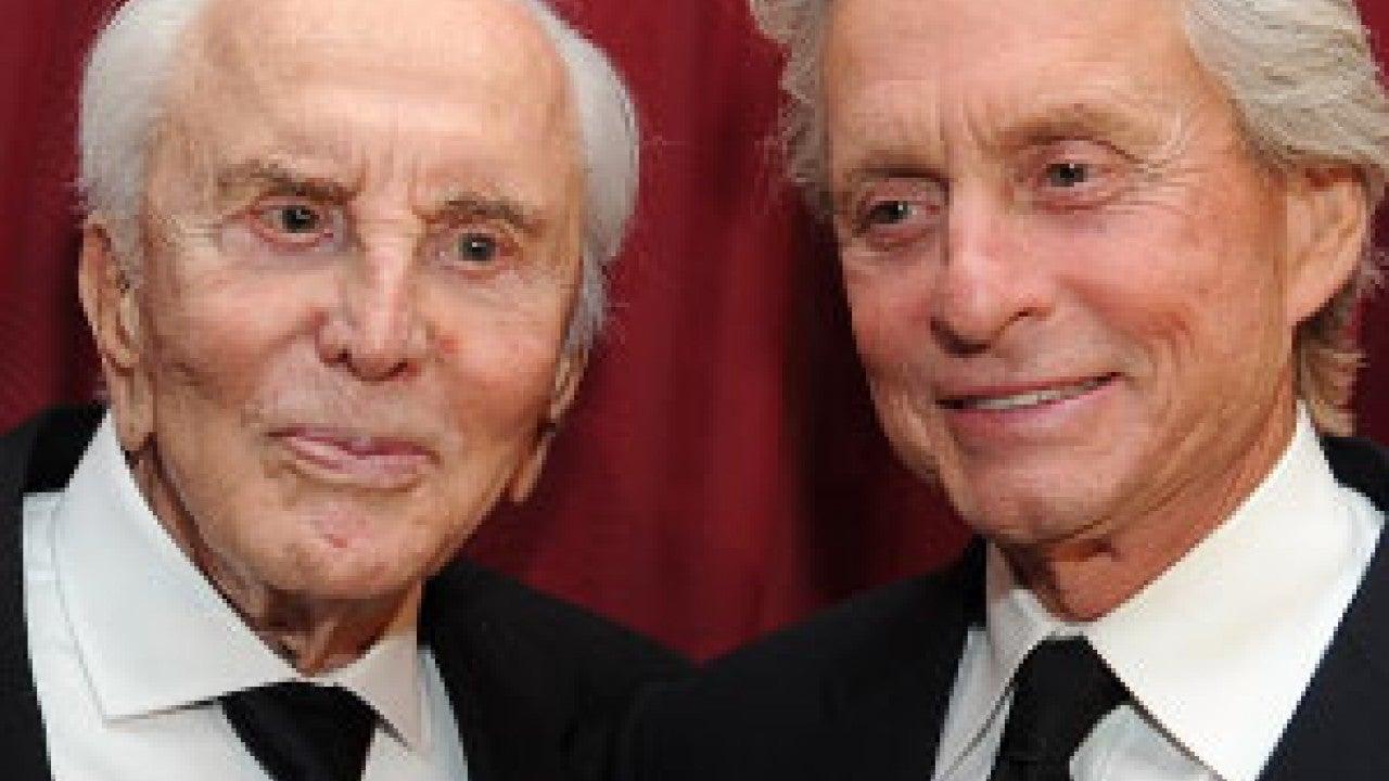 Kirk Douglas Celebrates 101st Birthday With Son Michael