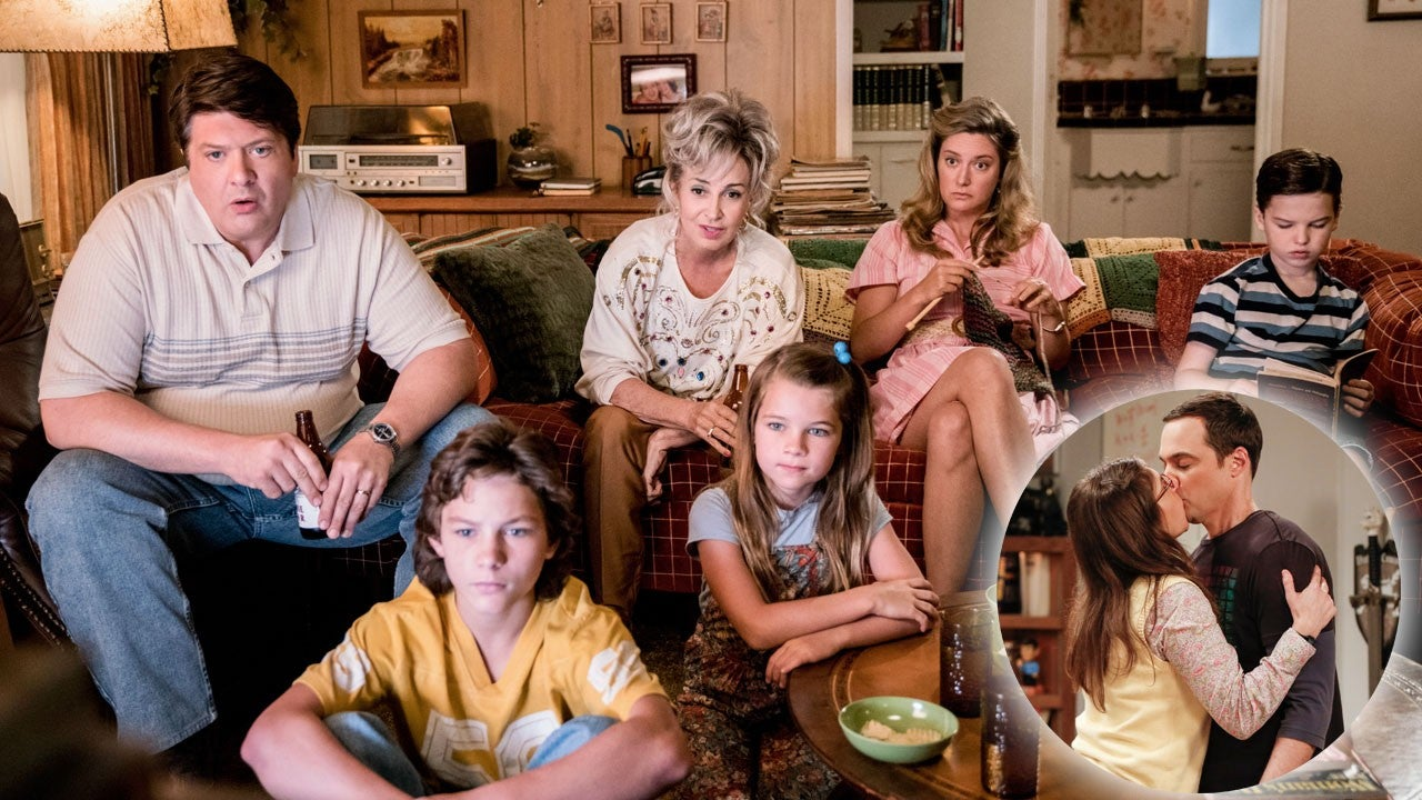 Big Bang Theory Boss Talks Young Sheldon Crossover Plans And Family Reunions At Sheldon Amy S Wedding Entertainment Tonight
