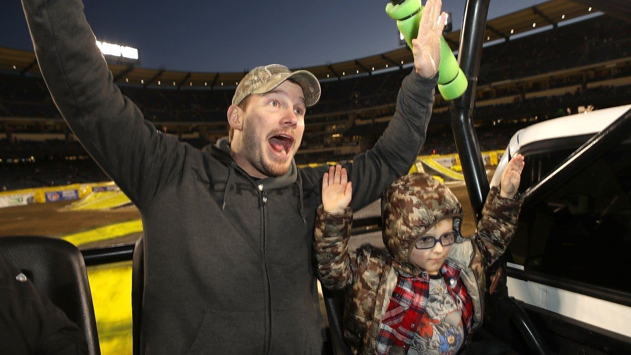 Chris Pratt and Son Jack Have a Blast at Monster Jam -- See the Pics! thumbnail