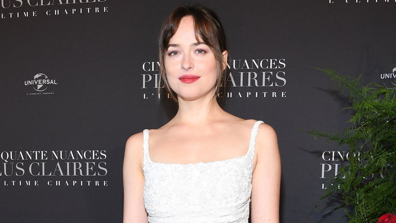 Dakota Johnson Reveals Thongs Were Superglued To Her Body While Filming Fifty Shades Freed Entertainment Tonight