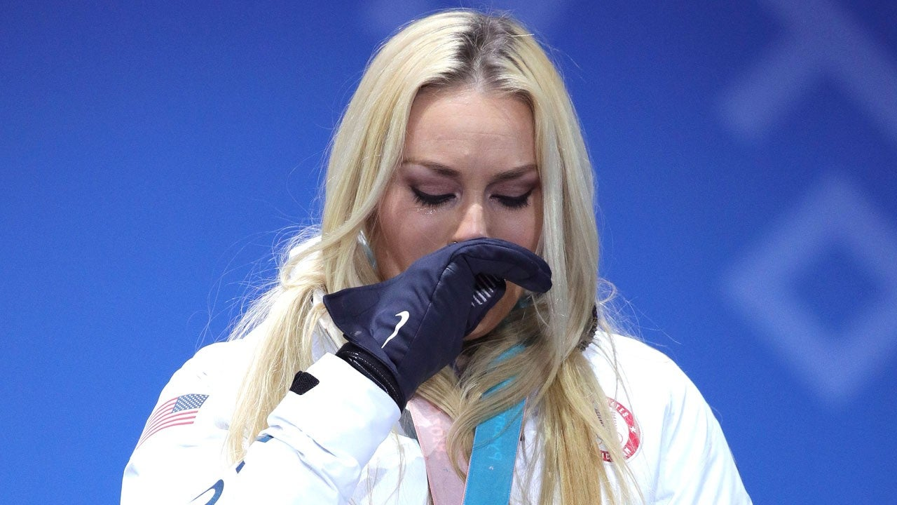 Lindsey Vonn Breaks Down Crying After Winning Bronze Medal