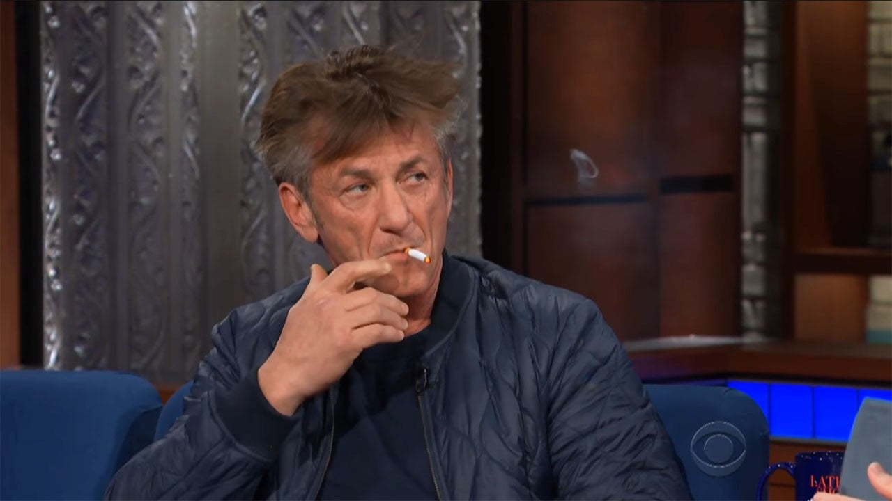 Sean Penn Smokes Several Cigarettes On The Late Show