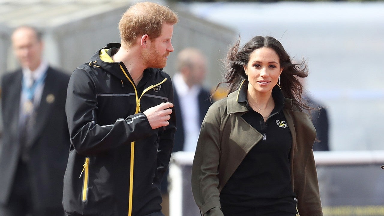 Meghan Markle And Prince Harry Meet With Athletes Training